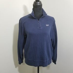 Vineyard Vines Quarter Zip Navy Pullover SZ S